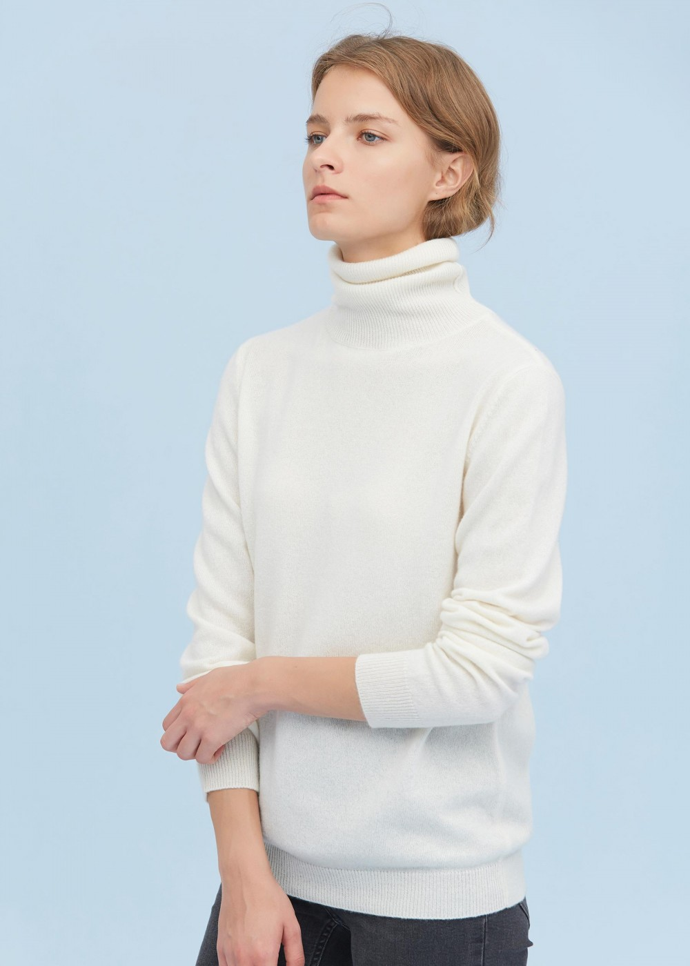 Pure Cashmere Turtleneck Sweater in 2020 | Ladies turtleneck