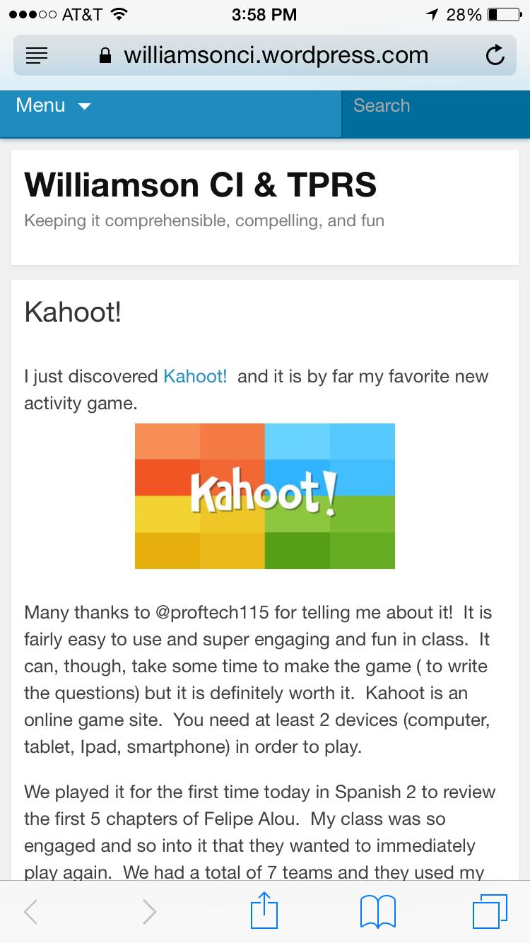 Kahoot! | Spanish 3 Felipe alou | Activity games