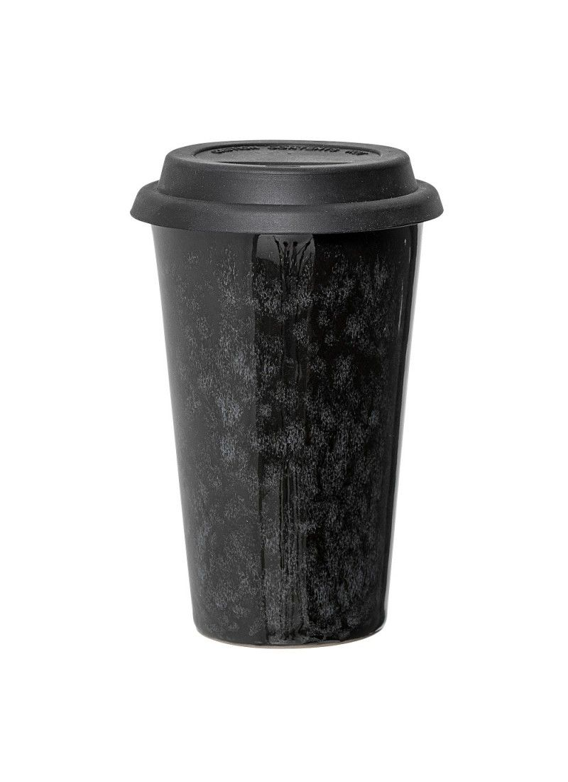 #coffeecup aus #porzellan #noir-serie von #bloomingville. Jetzt bestellen bei #minimalinteria.de https://www.minimalinteria.de/geschirr/163-bloomingville-coffee-cup-schwarz-grau.html