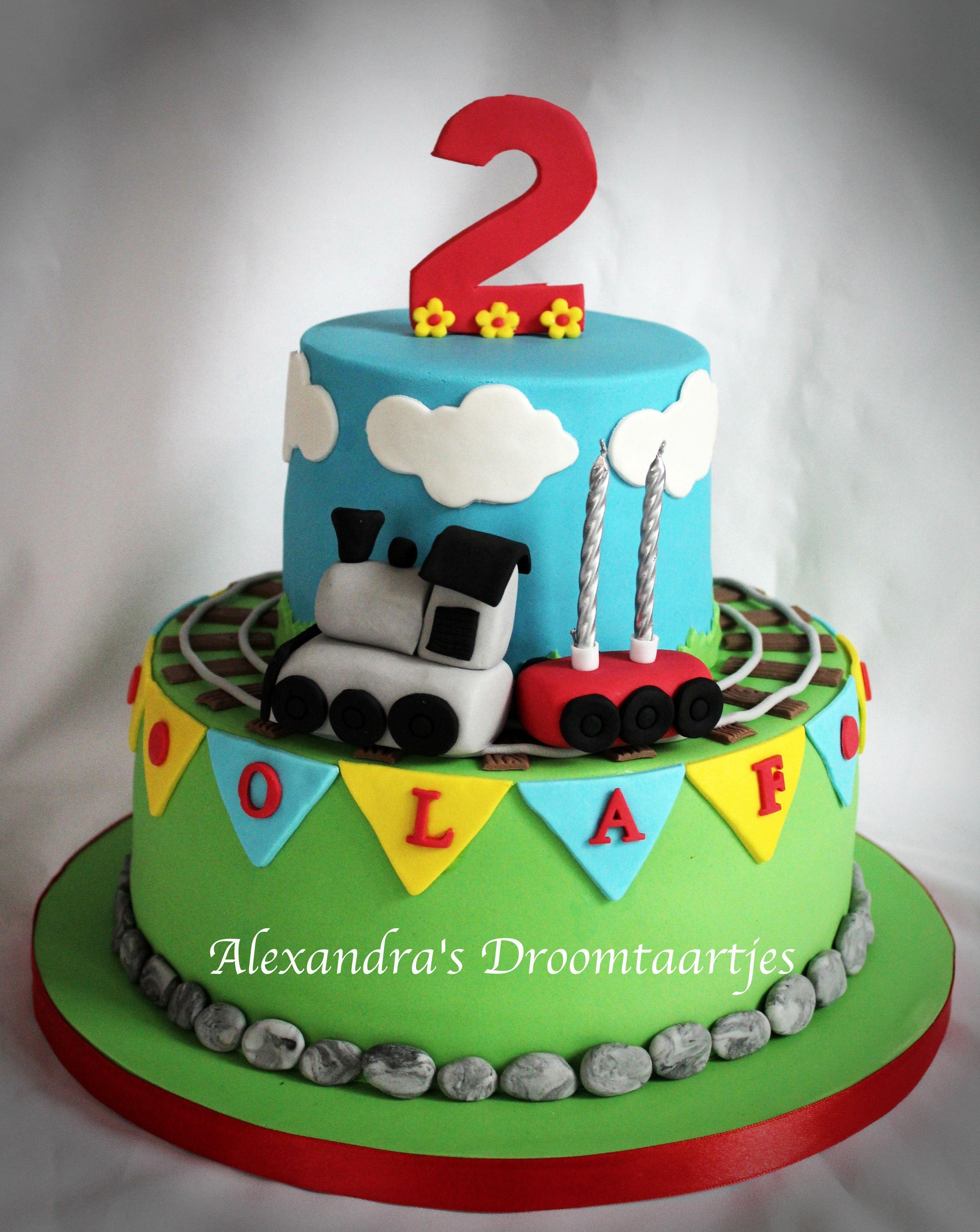 Trein taart jongen 2 jaar train cake boy 2 years My cakes