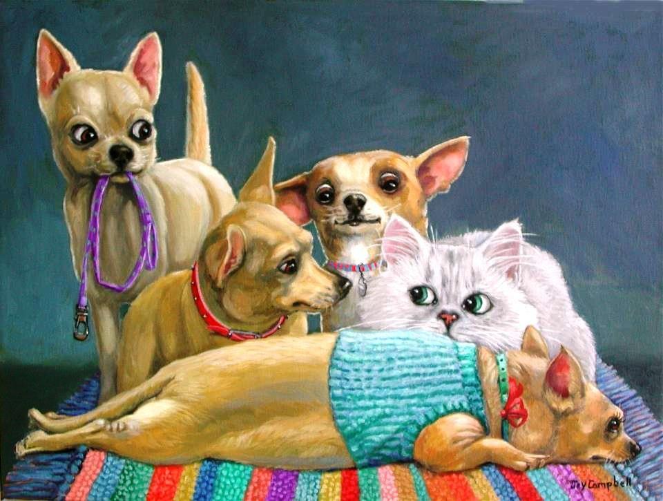 Прикольные картинки с собаками и кошками нарисованные, празднику моряка
