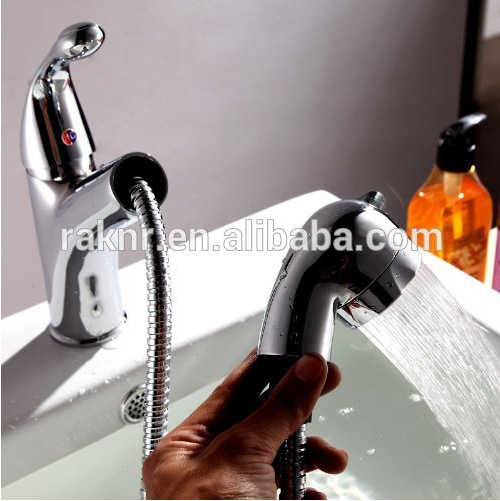 Single Lever Pull Out Wash Hair Salon Basin Faucet Washing Hair Basin Faucet