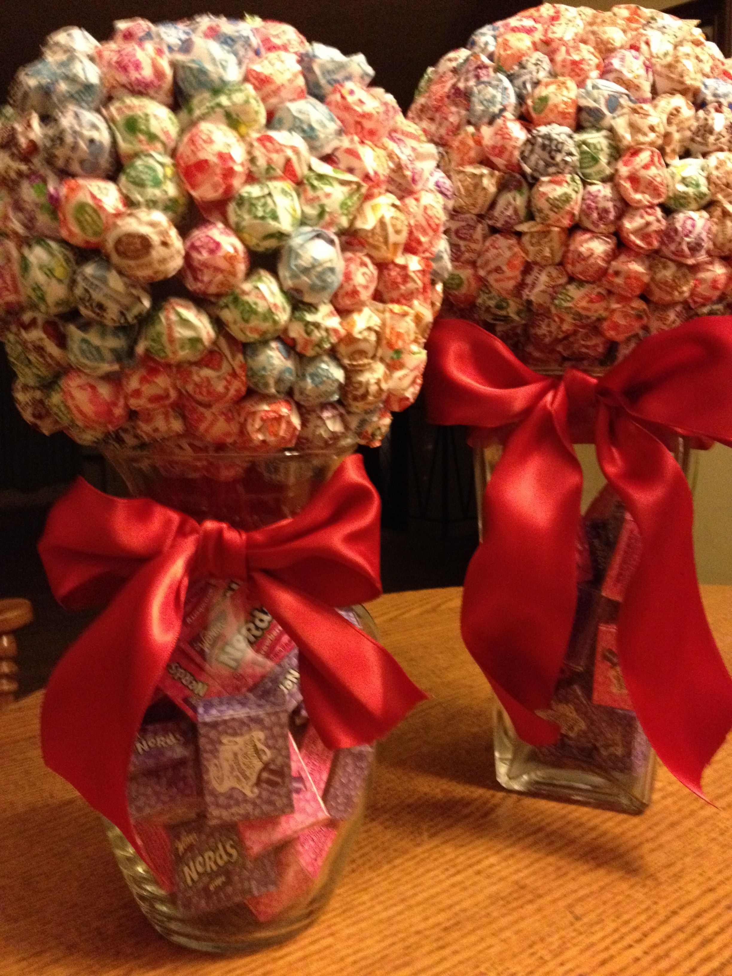 Decorations for candy land Christmas cookie exchange by Barbara Grollo