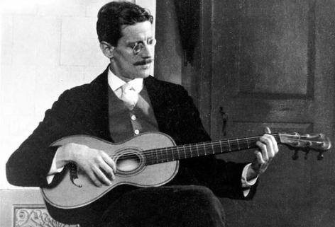 Joyce Playing The Guitar Zurich 1915 James Joyce James Joyce Finnegans Wake Joyce