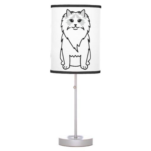 Ragdoll Cat Cartoon Table Lamp