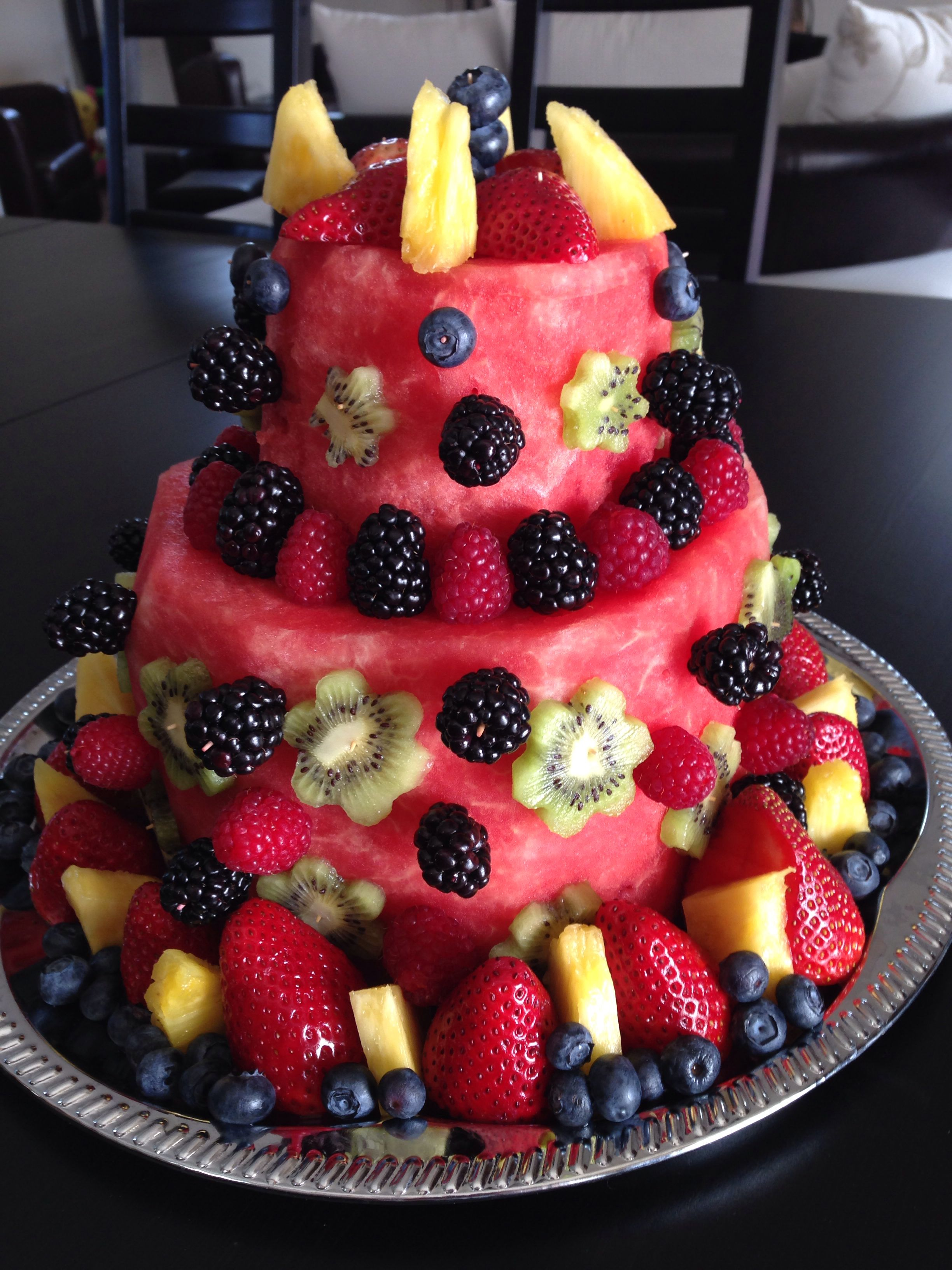 Our Own Birthday Creation Watermelon Fruit Cake With Images