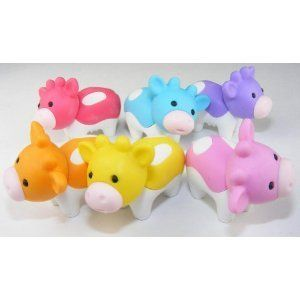 IWAKO Japanese Animal Puzzle Eraser Rubbers IWAKO Pig Erasers Party Bag Gift