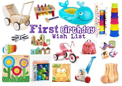 First Birthday Gift Wish List The Perfect Gift Guide For Your One Year Old Walking Toys Blocks Bike Pool Toys Mini Back Packs Interactive Toys And