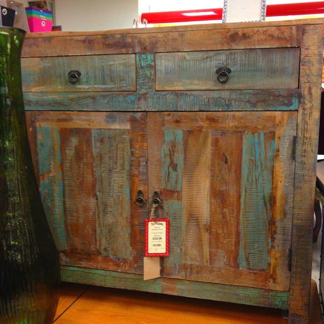 reclaimed wood dresser at tjmaxx