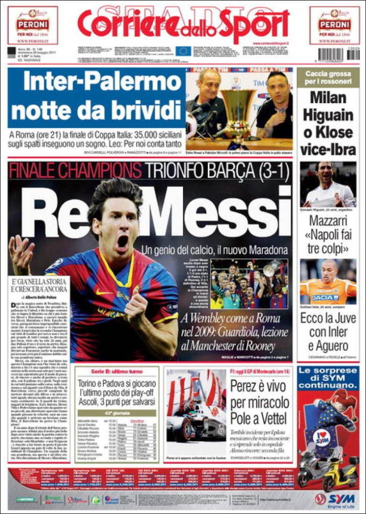 corriere dello sport europe italy rome sports newspapers