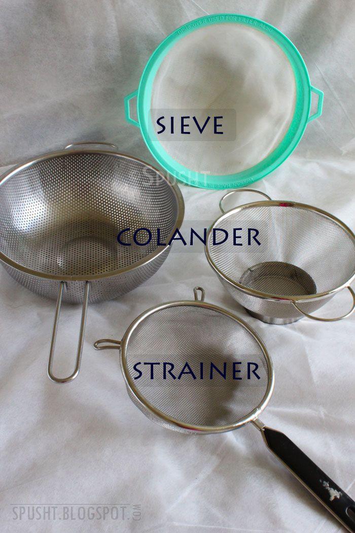 Sieve Colander Strainer Need To Get A Few More Of These Indian Kitchen Utensils Indian Kitchen Kitchen Utensil Organization