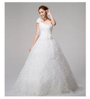 ecf59a9155025 Amazon.co.jp: 花嫁ドレス ウエディングドレス 結婚式ドレス プリンセスライン ライン
