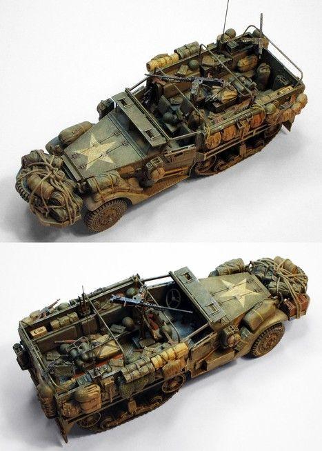 M3 Halftrack Military Miniatures H Q Scoop It Vehículos Militares Tanques Dioramas