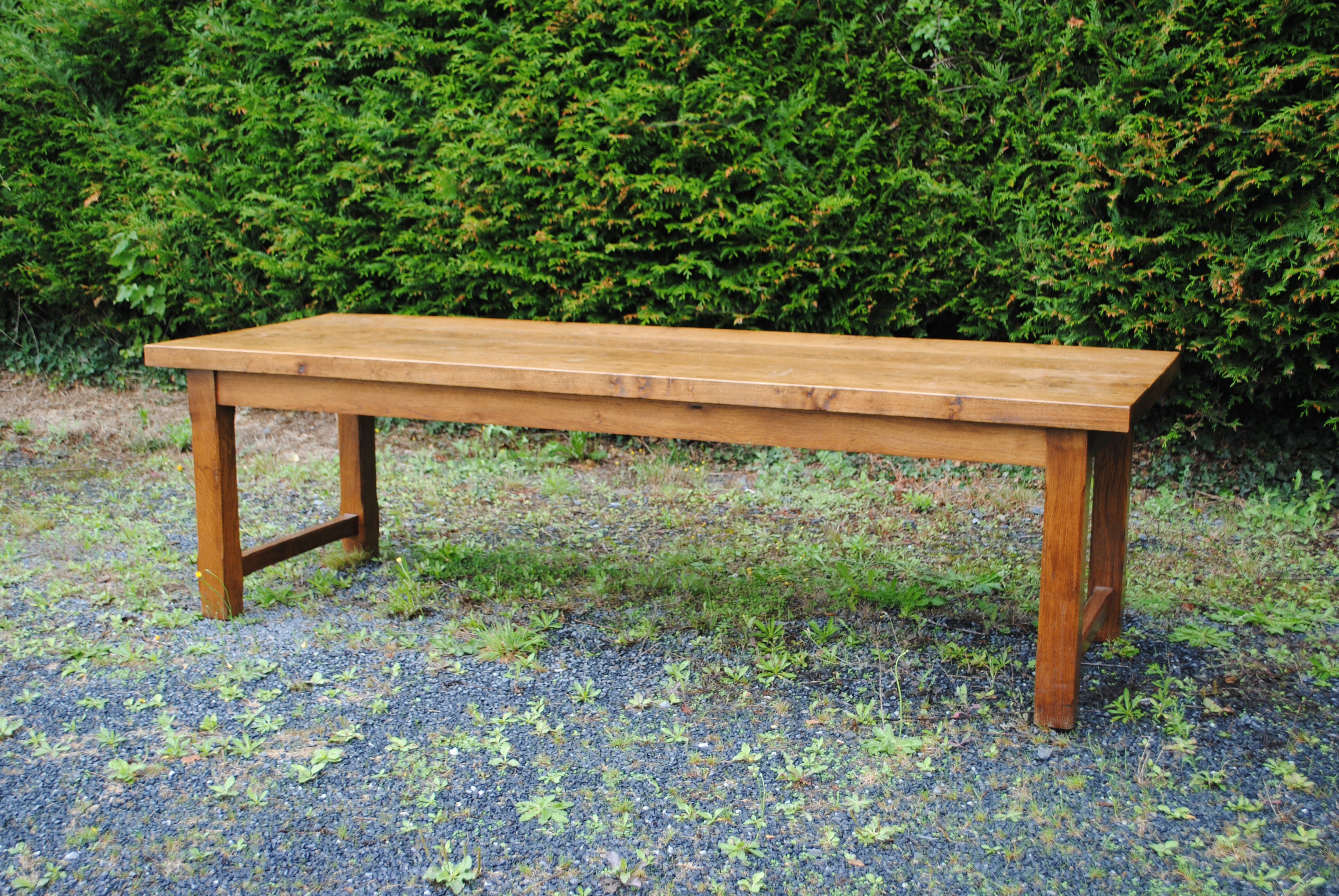 large Vintage French Oak Farmhouse Table 2.6 Meters Long