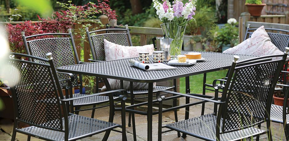 kettlers low maintenance steel mesh and aluminium garden furniture is long lasting and simply - Garden Furniture Steel