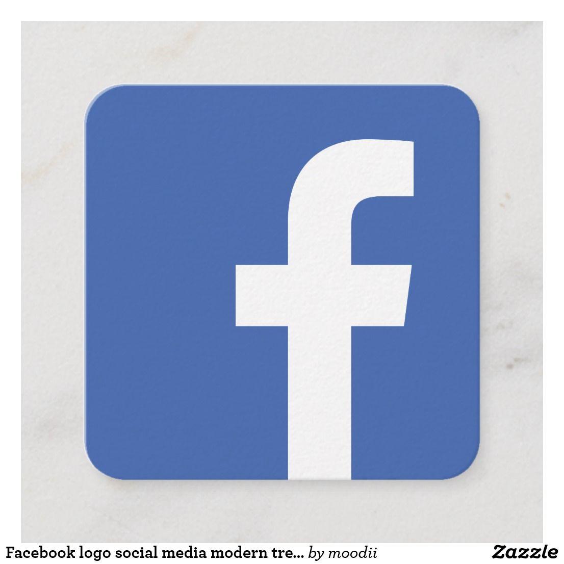 Facebook logo social media modern trendy business calling
