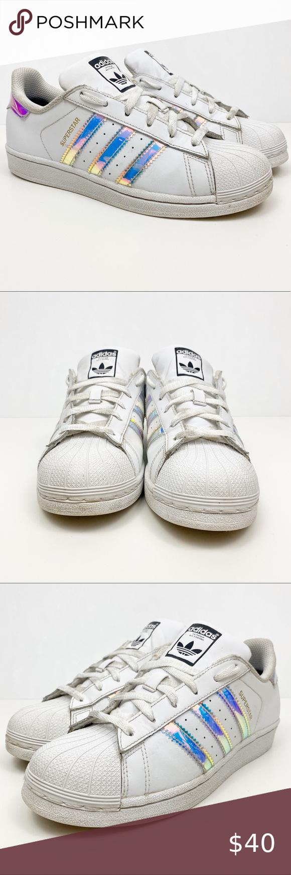Adidas Superstar Metallic Silver Size 5.5 | Superstars shoes ...