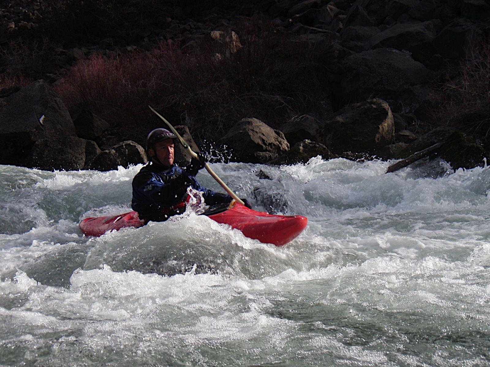 whitewater kayaking in Bend, Oregon