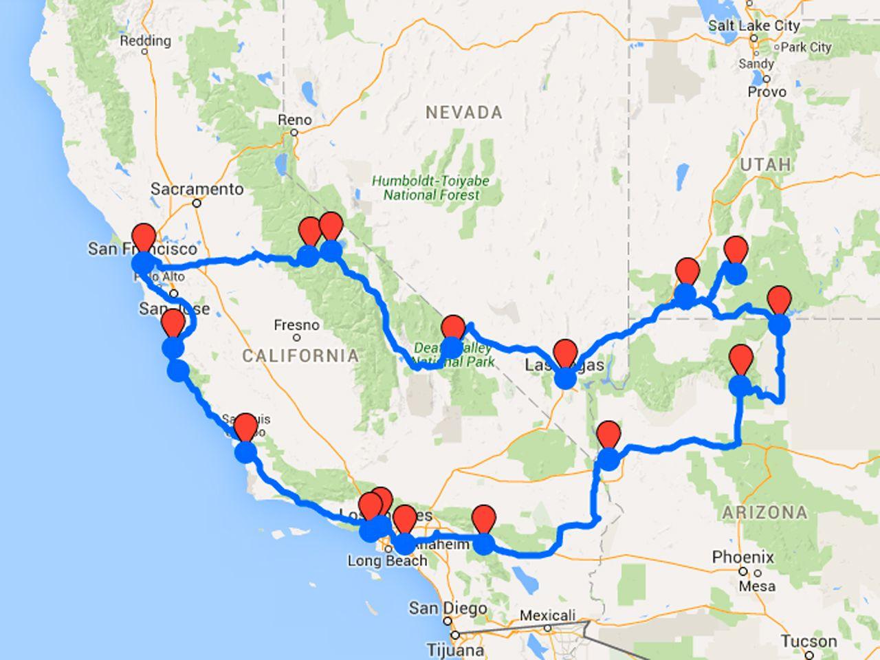 Oute Westkust Amerika Rondreis Westkust Amerika En Californie