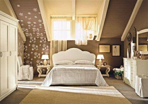 einrichtungsideen jugendzimmer dachschrge bett dekoration schrank - Wandgestaltung Schlafzimmer Dachschrge