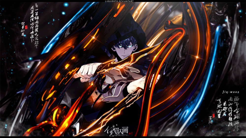 Anime Solo Leveling Sung JinWoo Wallpaper Hình ảnh