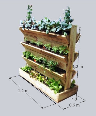 20 Vertical Gardening Ideas for Turning a Small Space into a Big Harvest is part of Vertical garden, Vertical herb garden, Veggie garden, Garden projects, Plants, Garden planters - Vertical gardening is nothing more than using vertical space to grow vegetables (or herbs, or flowers, even root crops), often using containers that hang