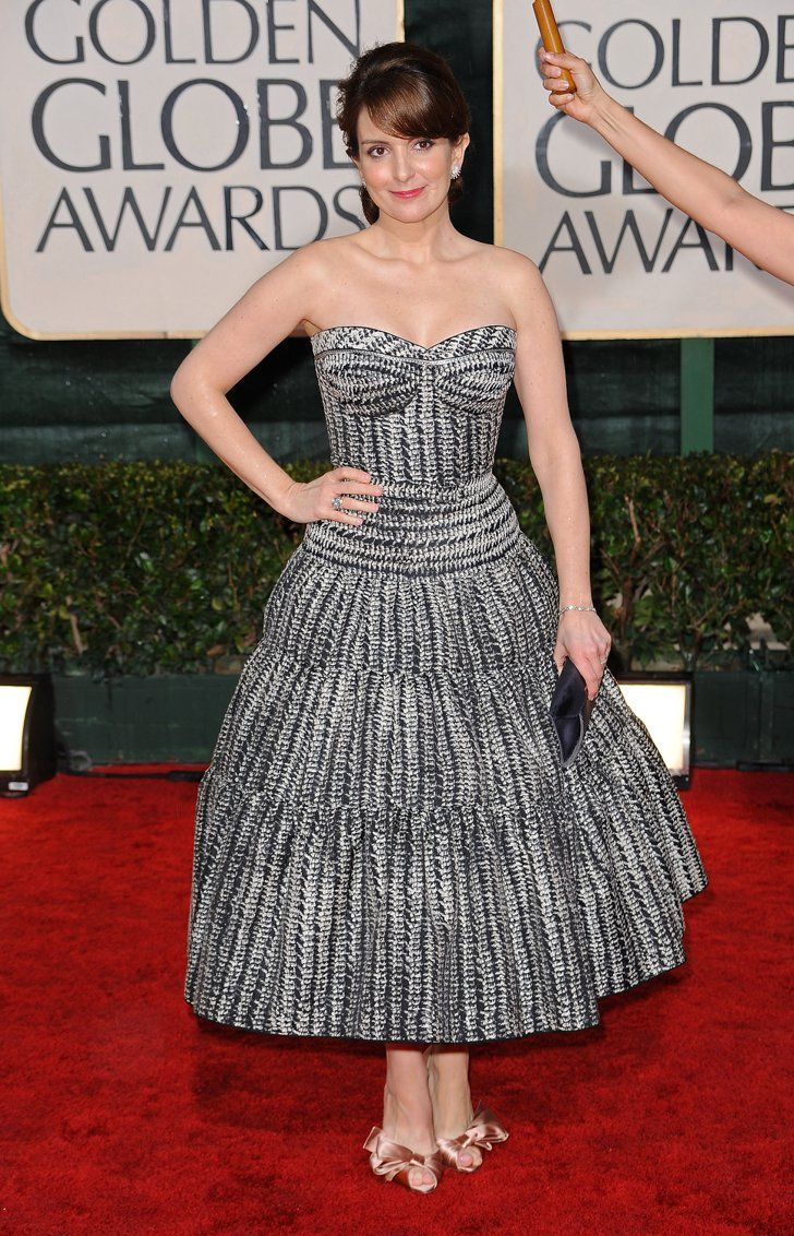 Pin for Later: The 64 Most Glamorous Gowns to Ever Hit the Golden Globes  Tina Fey in Zac Posen in 2010.