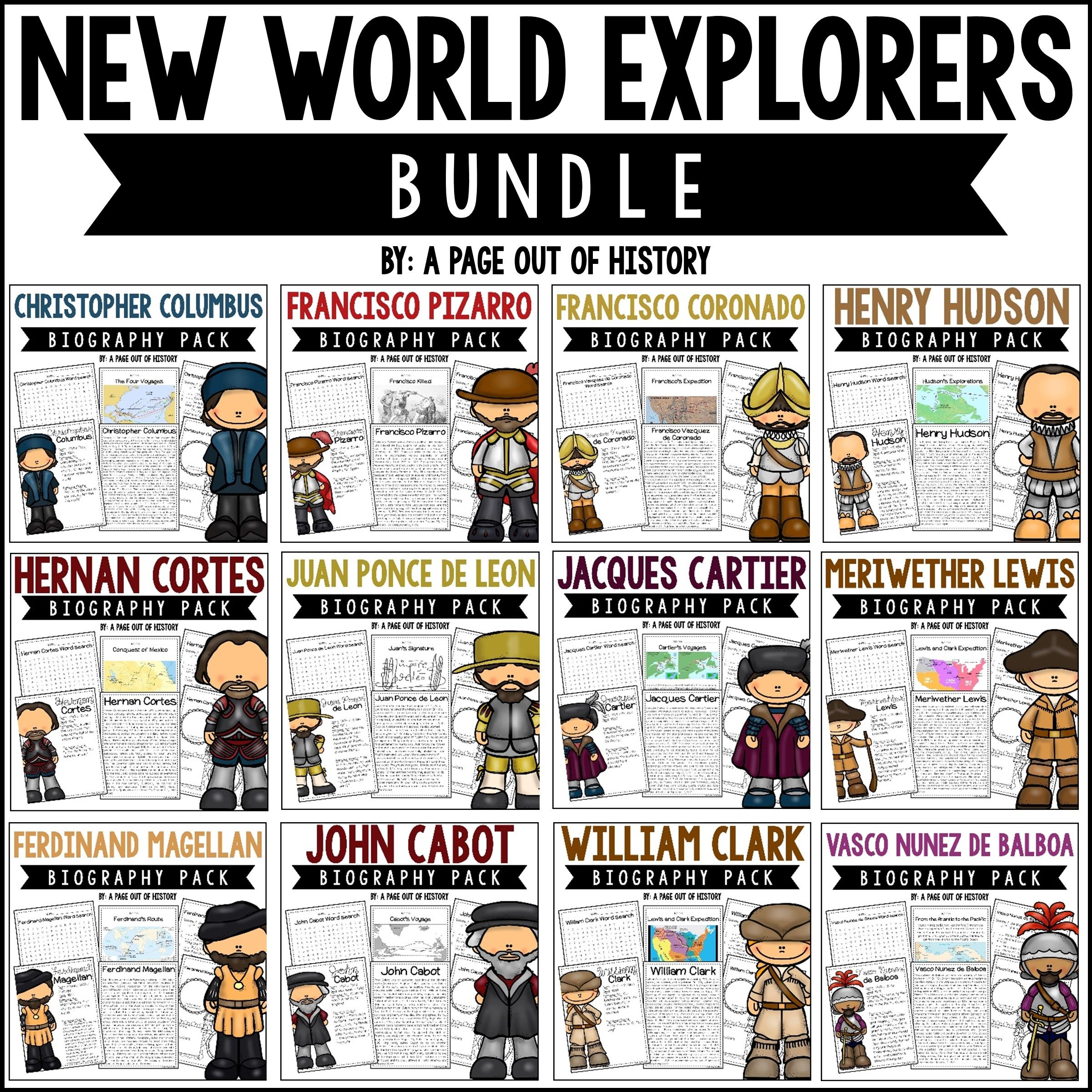 New World Explorers Biography Pack Bundle