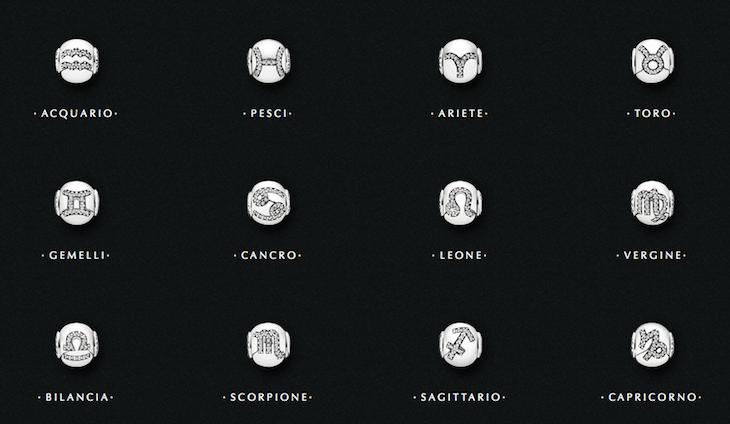 charm pandora segno zodiacale bilancia
