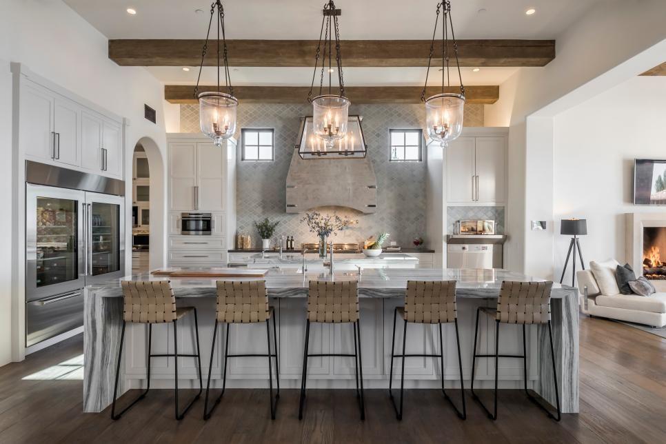 Open Concept Kitchen Inspired By Ocean 2018 Hgtv S Ultimate House Hunt Hgtv Gourmet Kitchen Design Kitchen Remodel Images Cool Kitchens