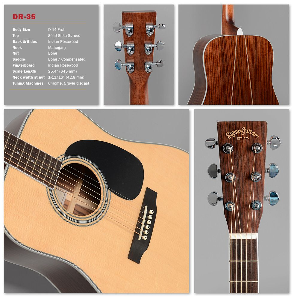 Sigma Guitars The Sigma Story Goes On Details Guitar Sigma Sitka