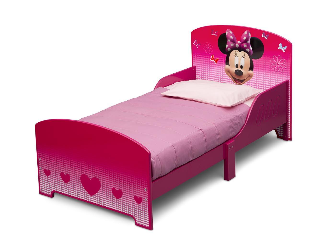 Cama infantil de madera con Minnie Mouse Pink ideal para el cambio ...