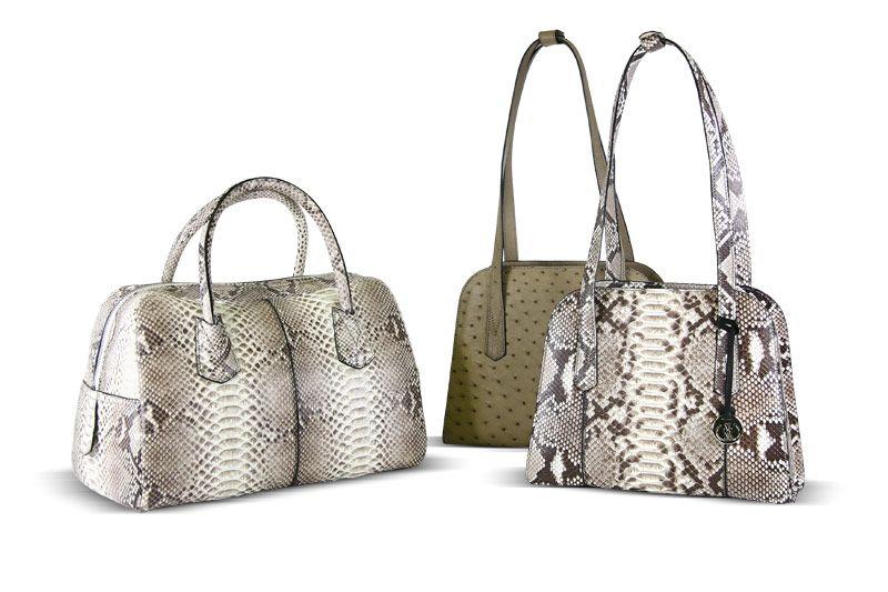 Ostrich Python Via La Moda Handbags