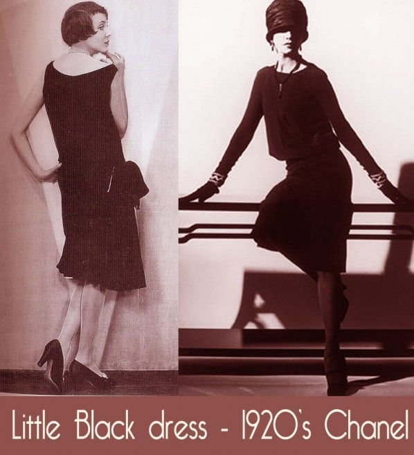 Little Black Dress Chanels Original It Was A Small Print Which