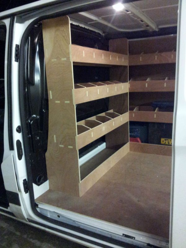 Ford Transit Custom Van Racking Swb Complete 12mm Plywood Shelving Storage Van Storage Van Racking Van Shelving