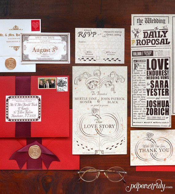 Romance Managed, Full Version - Harry Potter Inspired Invitation