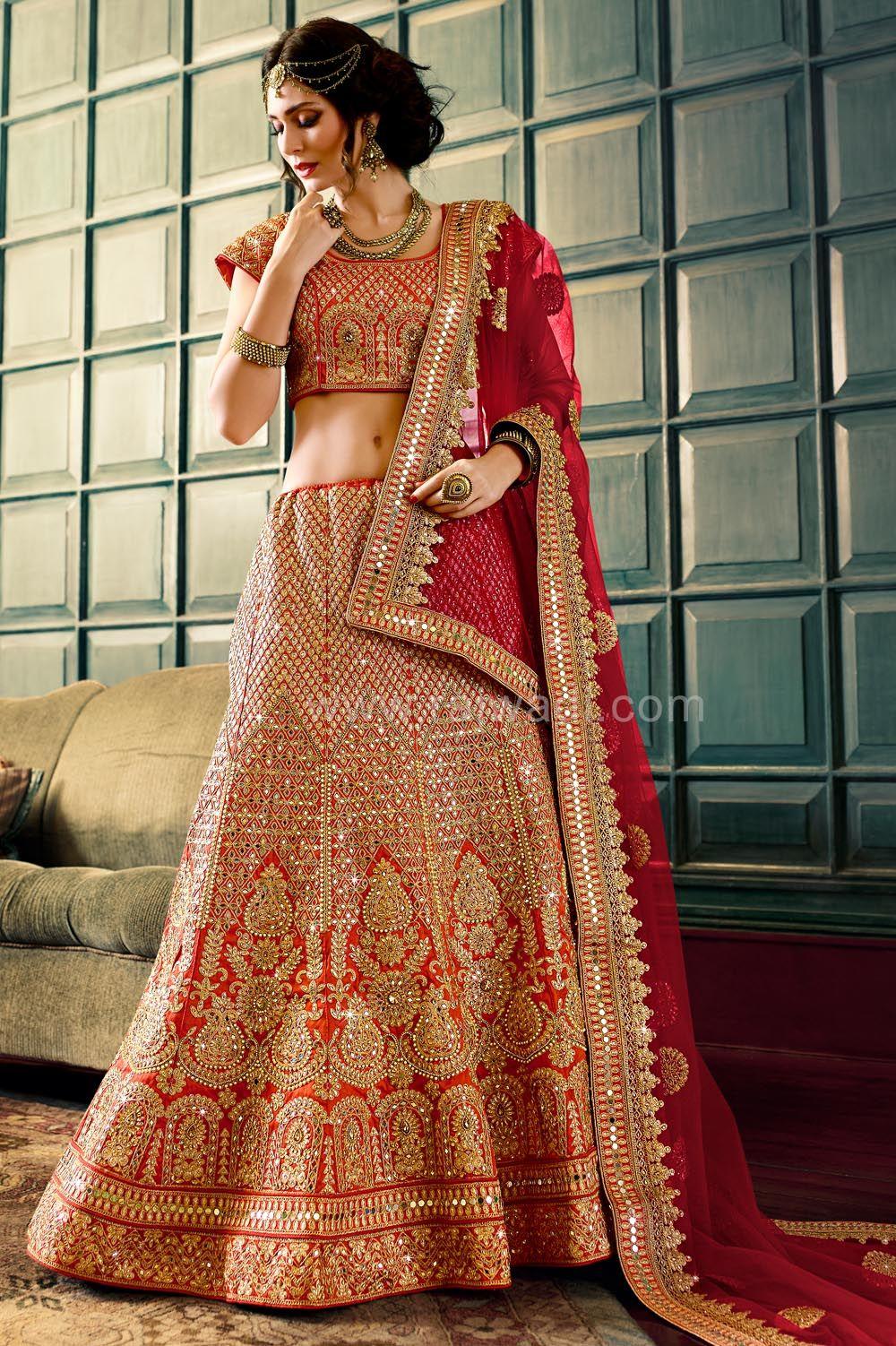 0876ebcbe9 Designer Rust Coloured Lehenga Choli #RoyalLook #LehengaCholi #Unstitched  Lehenga