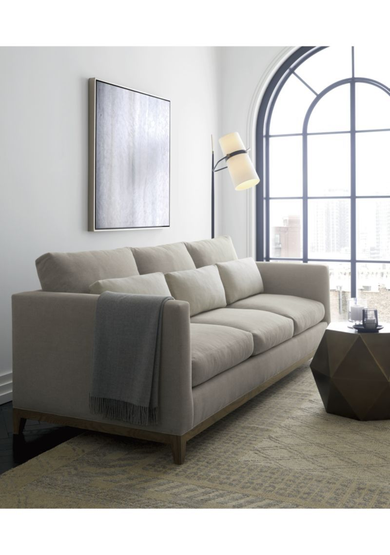 Riston Floor Lamp Clearance Rugs Crate Barrel Living Room Inspiration