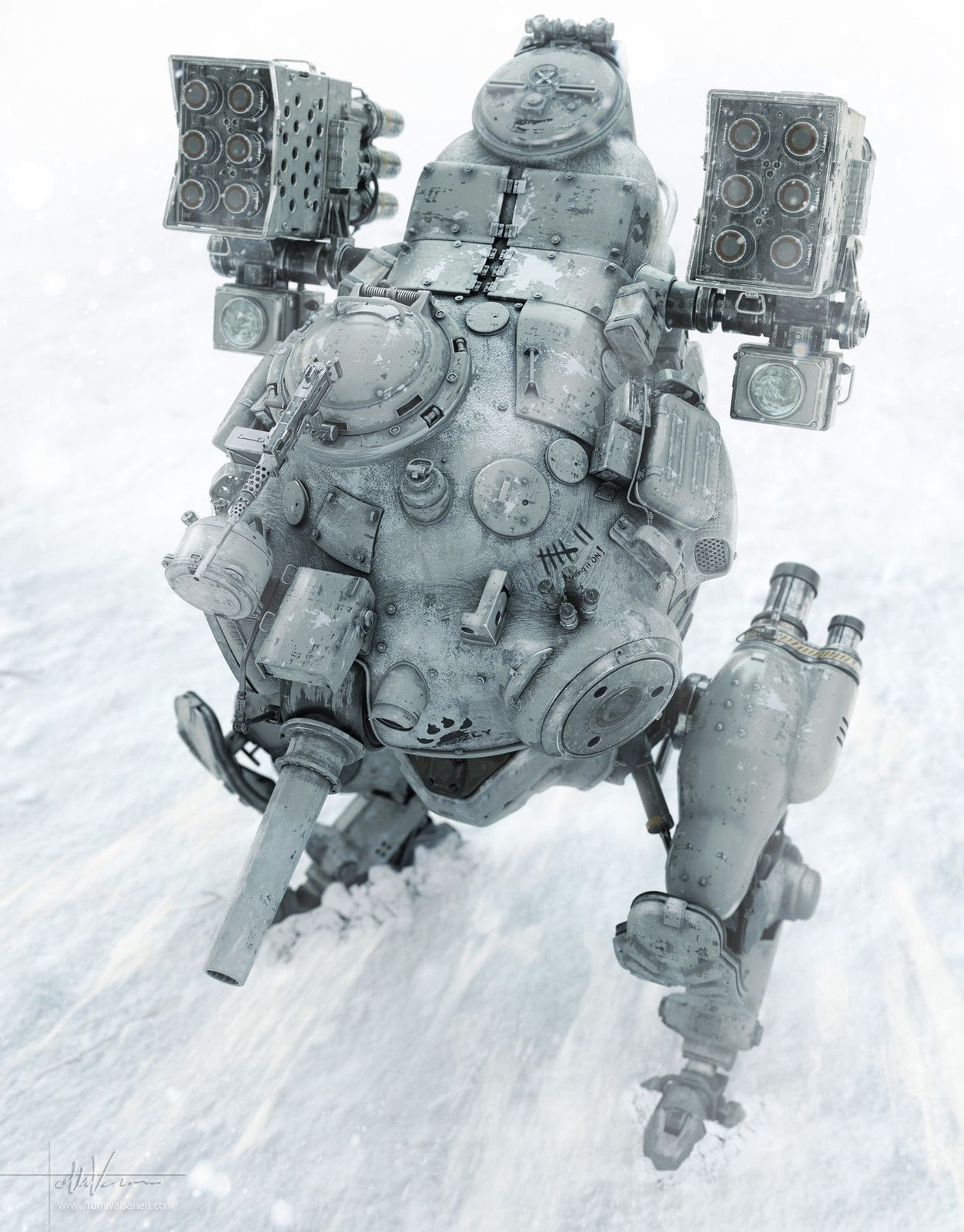 Snow Mech, Tomi Väisänen on ArtStation at https://www.artstation.com/artwork/eQlz3