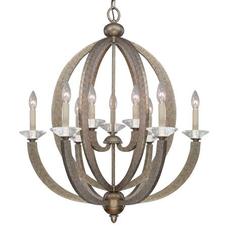 This eye catching chandelier has a gentle open design with polished this eye catching chandelier has a gentle open design with polished k9 crystal accent bobeches chandeliers pinterest chandeliers candelabra bulbs aloadofball Choice Image
