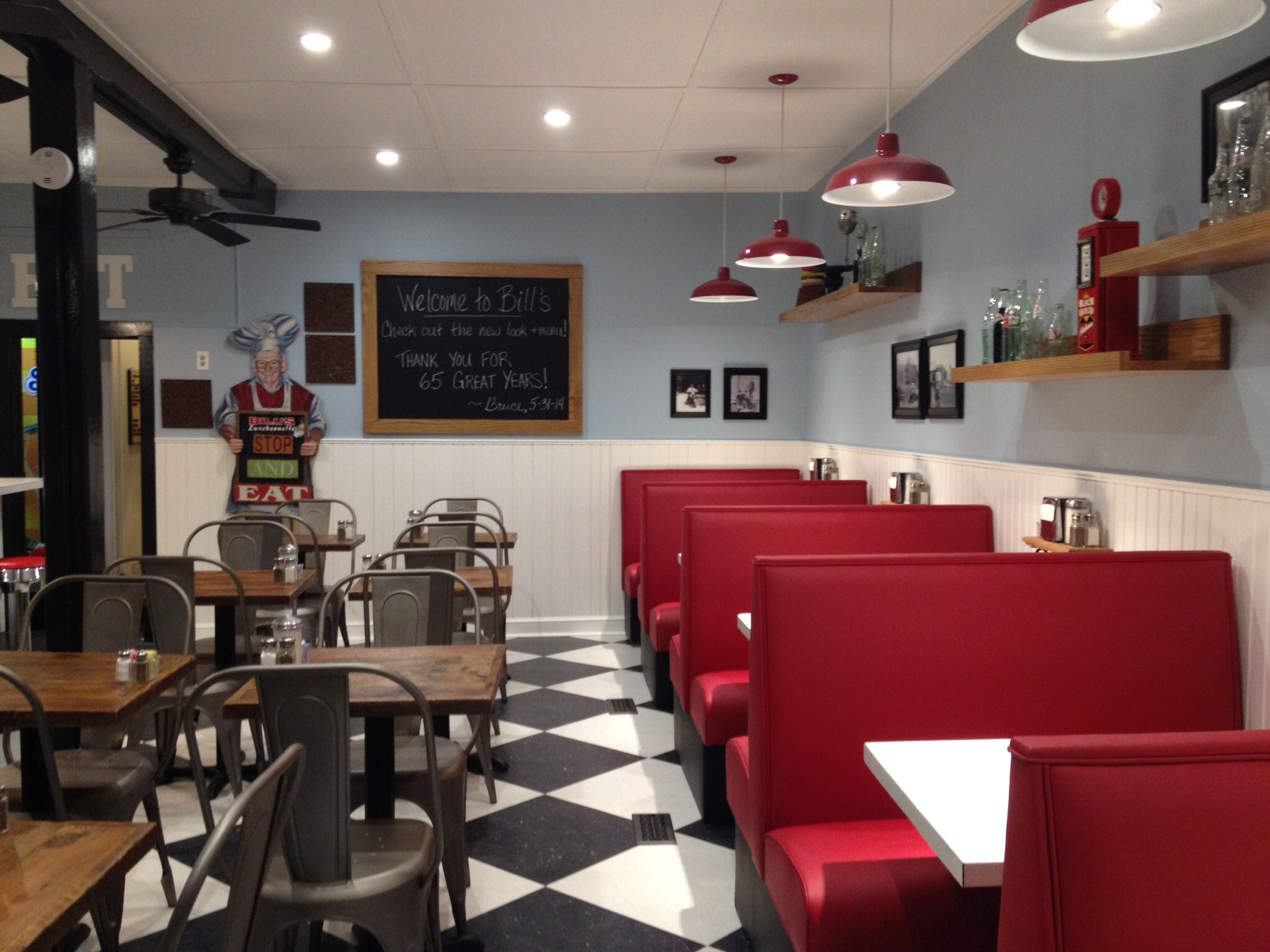 design interiors at bill's luncheonette (billsluncheonette