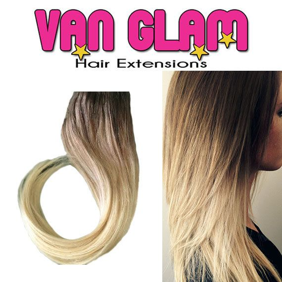 Weft Sew In Extensions Color Melt Ombre 20 European Remy Hair