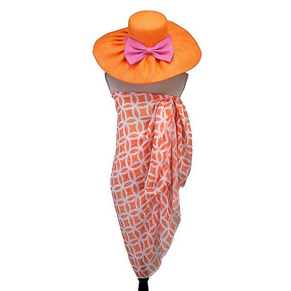 Orange Circles Beach Sarong Perfect for by PreppyPinkies on Etsy