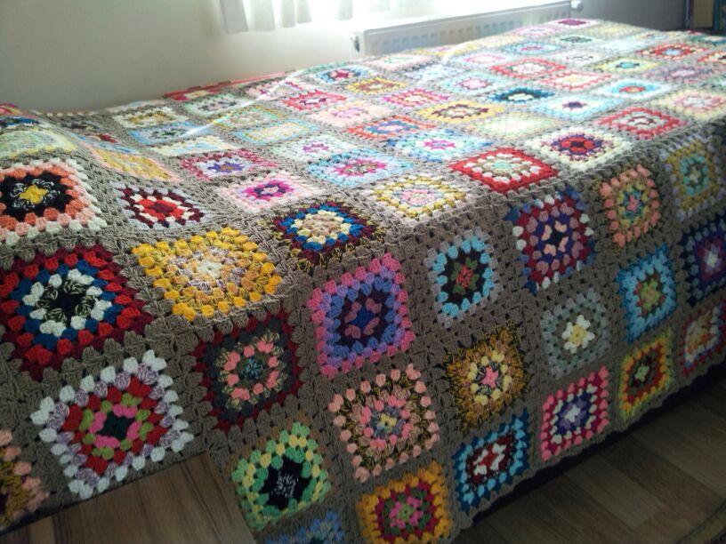 Again granny square , blanket pattern ,crochet | Ganchillo ...