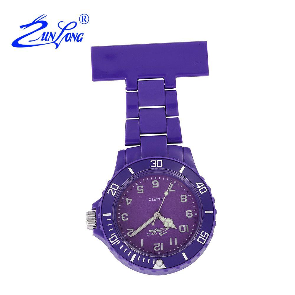 ZUNLONG Women Nurse Pocket Watch Quartz Pins Nurses Watches Doctor Portable Fob Watch Brooches Tunic Batteries Christmas Gifts