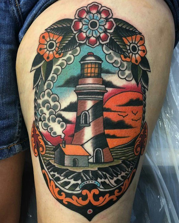 Lighthouse American Traditional Tattoo: Lighthouse Tattoo - Twitter Search