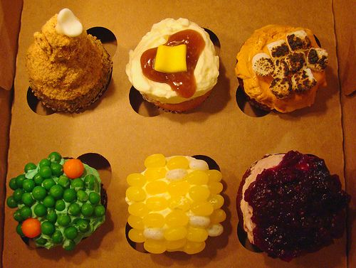 recipe: thanksgiving dinner cupcakes [13]