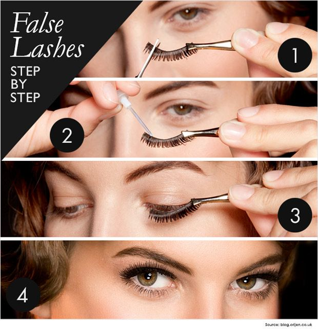 Steps On How To Apply Fake Eyelashes Eye Makeup Pinterest