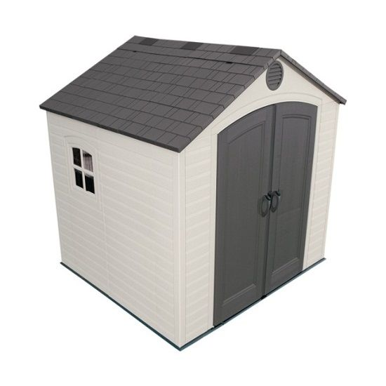 Lifetime 6411 8 X 7 5 Lifetime Garden Shed On Sale With Free Shipping Plastic Outdoor Storage Outdoor Storage Sheds Lifetime Storage Sheds