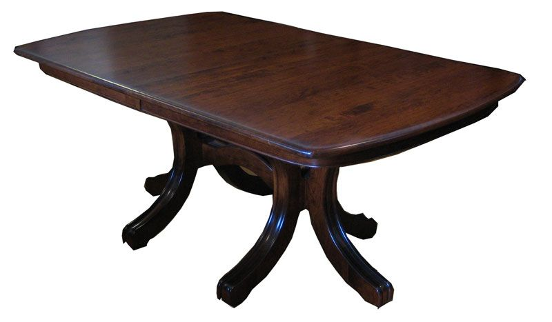 Williamson Double Pedestal Table   Ohio Hardwood Furniture